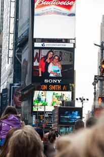 Sami and Chloe on the JumboTron