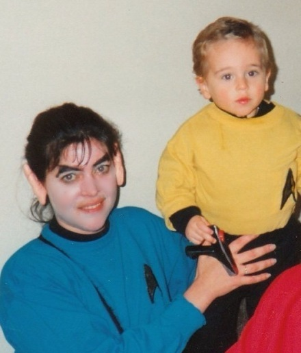 Before the days when Star Trek costumes were available to purchase - DC's second Halloween.