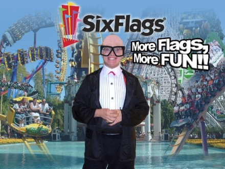 Photo Credit - Six Flags Amusement Park and *Al (at work) - Graphic Artist who works magic with my Halloween Pics every year.