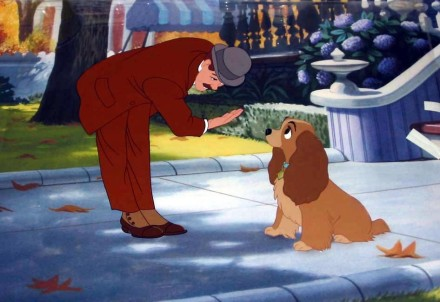 """""""Jim Dear"""" and Lady - Photo Credit - Disney's Lady and The Tramp."""