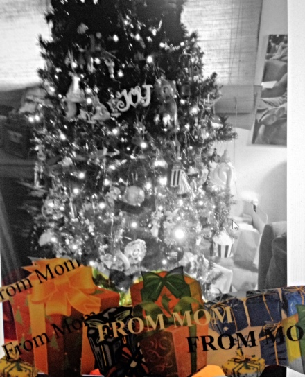 Christmas Eve. All of Mom's gifts